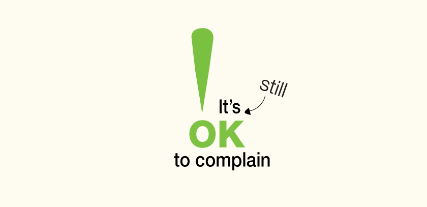 It's still ok to complain logo