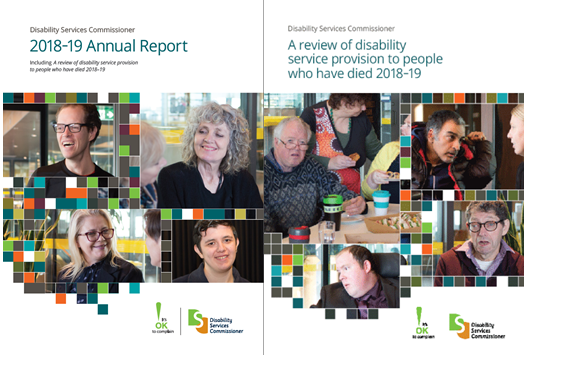 Image of the front cover of the 2018-19 Annual Reports.