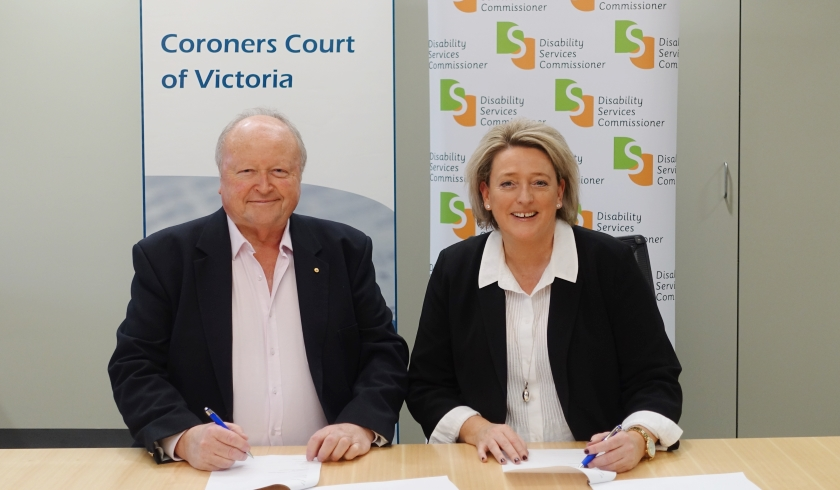 Signing of MOU between DSC and State Coroner
