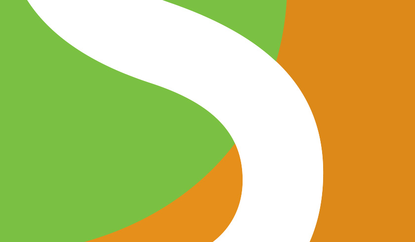 Green, orange and white abstract design