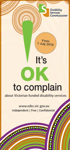 from images of DL brochure with words 'It's OK to complain'